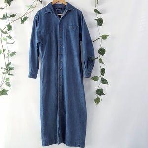 Vintage Ralph Lauren long sleeved maxi dress sz 10